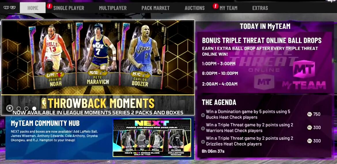 How to make MyTeam NBA 2K21 MT by Triple Threat Online
