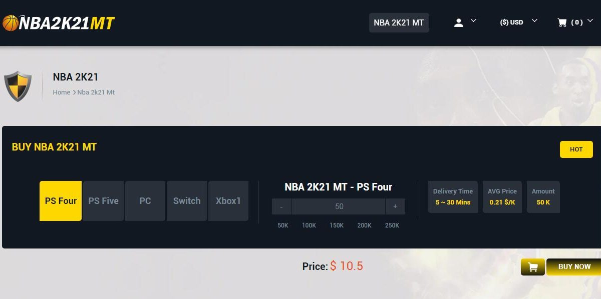 Where is the best website to buy NBA 2K21 MT